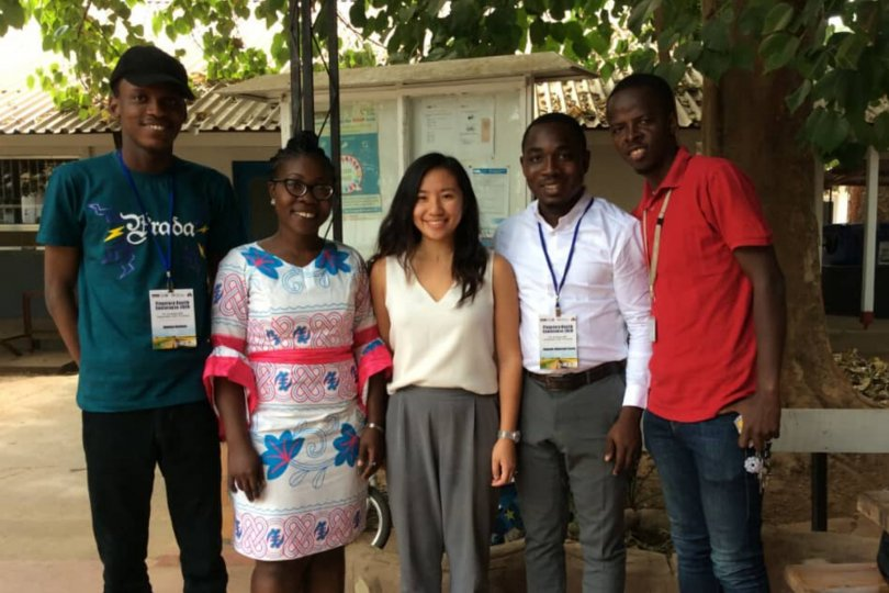 Adebisi Yusuff Adebayo (far left) with fellow conference attendees