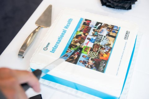 A cake to celebrate International Health's tenth anniversary