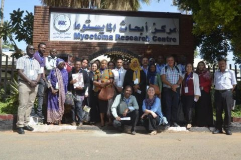 Some of the meeting attendees at the Mycetoma Research Centre