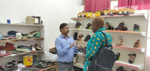 Made-to-order shoes for patients with leprosy, using 3D printing to customise the fit.