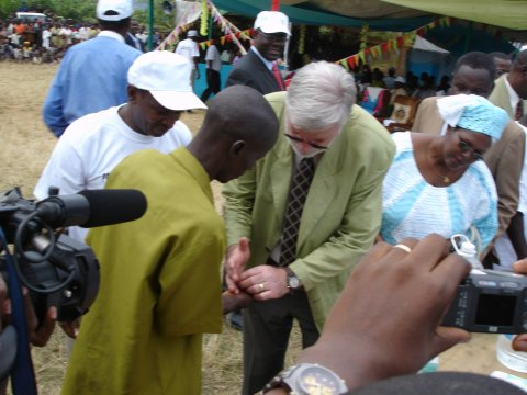 Dr Adrian Hopkins at the official launch of CDTI in the Central African Republic