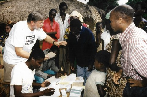 Dr Adrian Hopkins - mass drug administration (MDA) in the Central African Republic.