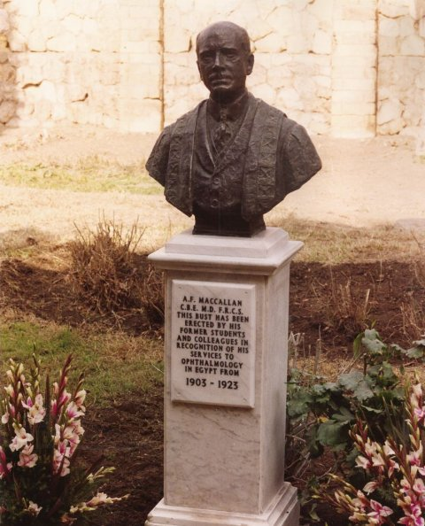 Renovation of Arthur's commemorative bust. 1992