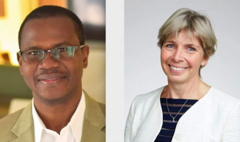 George Macdonald Medal recipients Professor Alex Ezeh and Professor Sarah Cleaveland