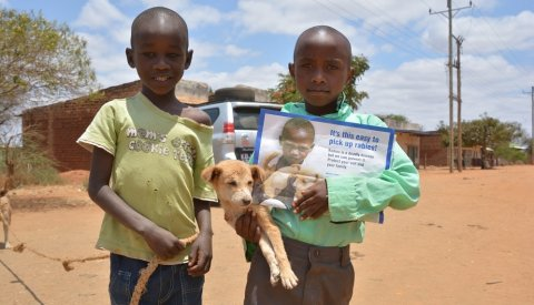 Children are at particularly high risk from rabies and engaging with children is important to increase awareness of rabies risks and preventive measures. Photo: Sarah Cleaveland
