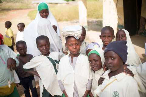 Some of the many school children who are protected from NTDs by the UK aid–funded UNITED programme in northern Nigeria. Photo: Sightsavers / Graeme Robertson